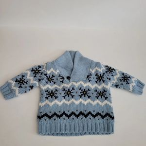 Janie and Jack boys blue patterned sweater